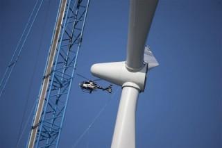 На территории Калмыкии заработало несколько ветряных энергетических установок