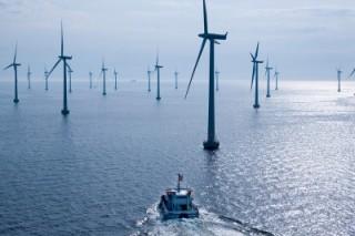 Один из крупных морских ветряков запущен на территории Китая в провинции Цзянсу