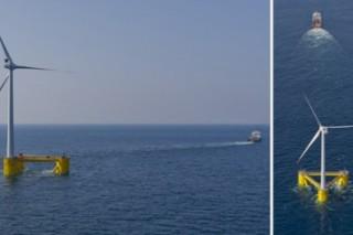 Плавающая ветряная турбина установлена недалеко от португальского берега