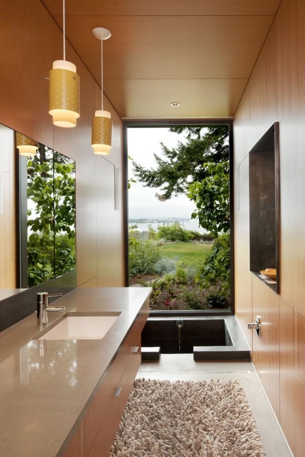 Внутренние помещения визуально интегрированы с внешней средой