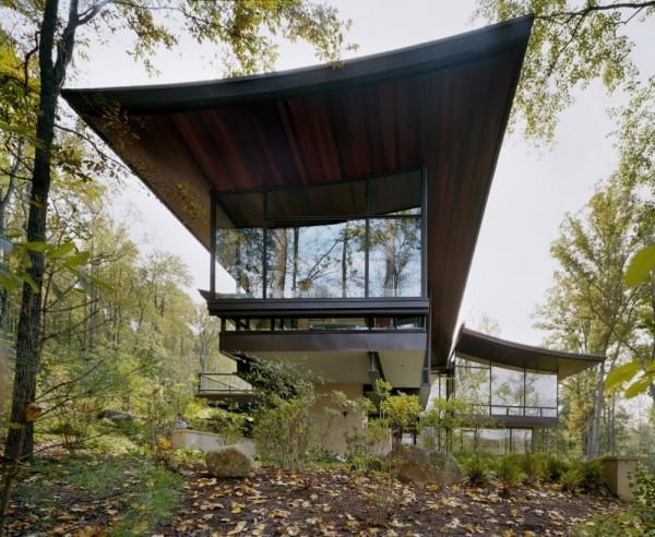 Дом расположен на зеленом участке площадью 80 гектар в графстве Албермарл, штат Вирджиния