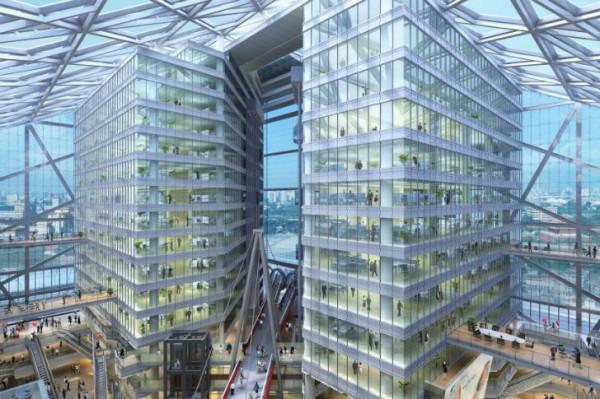 """По всей видимости, это здание площадью 75000 кв. м. - самый крупный """"зеленый"""" проект в Пекине"""