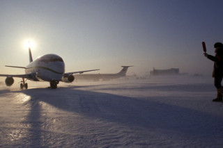 Из-за пурги в понедельник прервано авиасообщение с Чукоткой