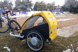 Ridekick — велосипедный прицеп, оснащенный электроприводом