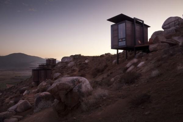 Гостиничный комплекс на склоне горы в Мексике