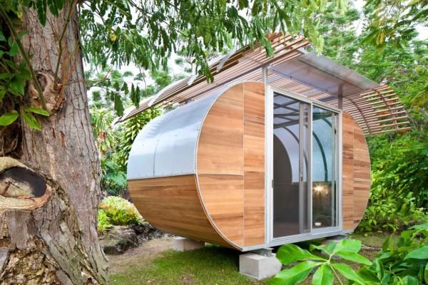 Сборный дом из переработанного металла