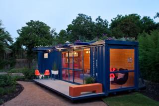 Жилой контейнер с «зеленой» крышей