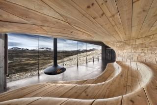 Наблюдательный павильон у горы Снёхетта