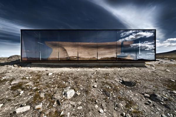 Наблюдательный павильон у горы Snøhetta