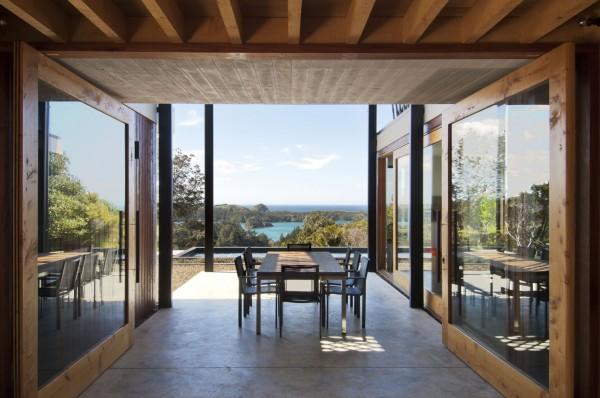 Дом на берегу океана в Новой Зеландии
