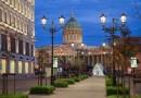 На петербургской улице Малой Конюшенной установили светодиодное уличное освещение