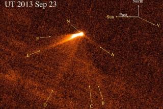 Астрономы обнаружили необычную хвостатую комету