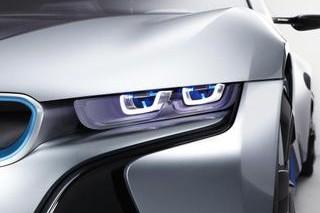Гибридный суперкар BMW i8 получит лазерные фары