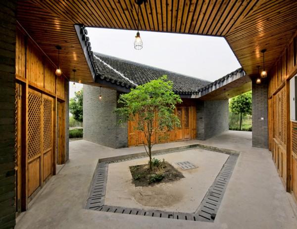 Павильон для отдыха в китайской деревне