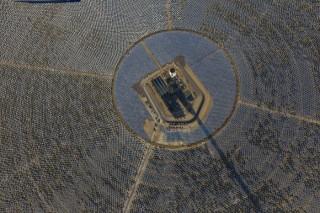 Закончилось строительство крупнейшей солнечной электростанции