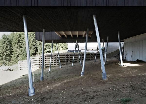 Дом на сваях в северной Австрии