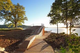 Смотровая площадка в латвийском парке