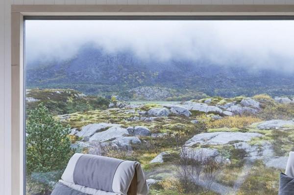 Дом в норвежском стиле у полярного круга