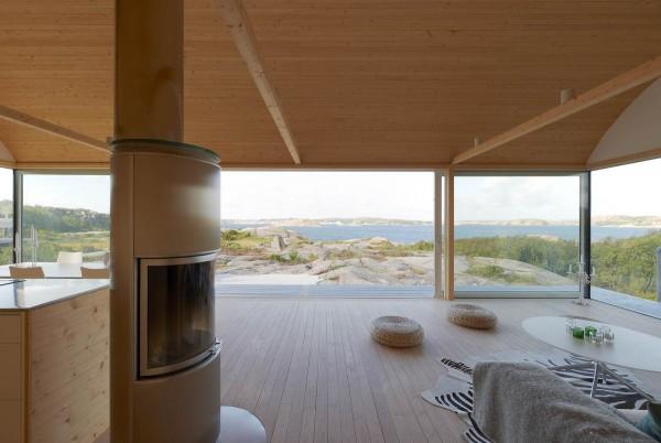 Мини-коттеджи на побережье Швеции