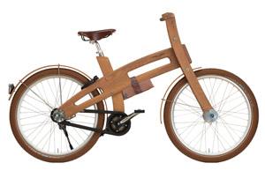 Голландцы представили электрическую версию деревянного велосипеда