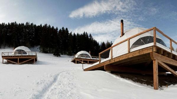 Экоотель в Швейцарских Альпах