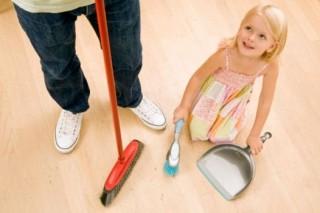 Работа по дому влияет на способности ребенка