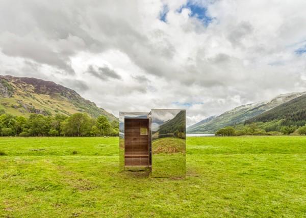 Зеркальная смотровая кабина для национального парка