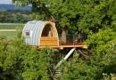 Спальный домик среди крон деревьев