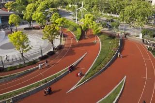 Сквер-спортплощадка в Шанхае
