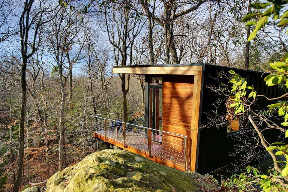 Маленький домик в лесу своими руками 6