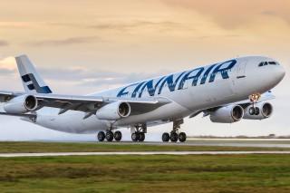 Самолет Finnair перелетел через Атлантику на биотопливе