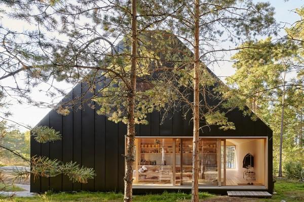 Деревянный дом в лесу на Стокгольмском архипелаге