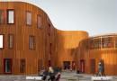«Волнообразный» детский сад c «зеленой» крышей
