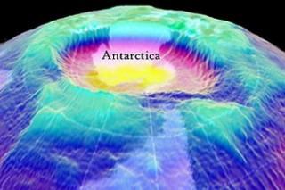 Размер озоновой дыры над Антарктидой достиг 24,3 миллионов квадратных километров
