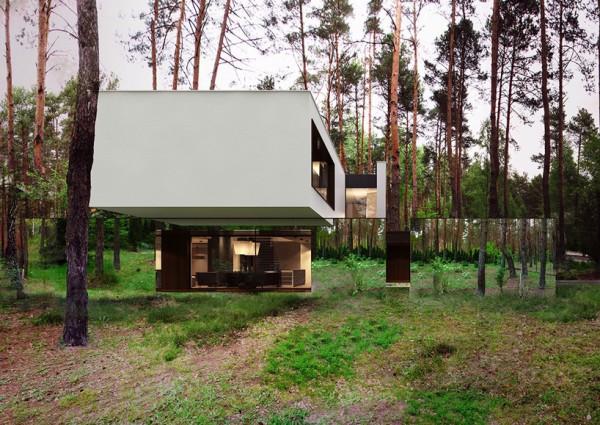Дом, парящий над лесом
