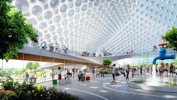 Под куполом: новые офисы Google в Маунтин-Вью