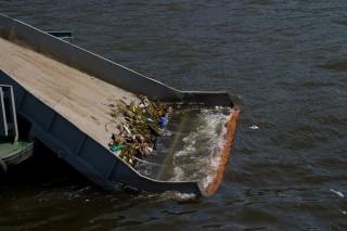 Москву-реку активно очищают от мусора