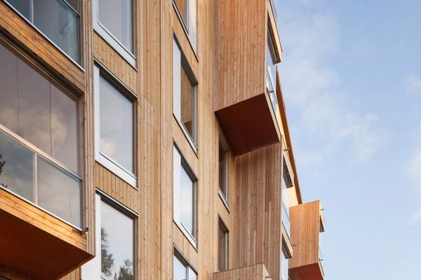 В Финляндии построили первый в стране 8-этажный дом из дерева