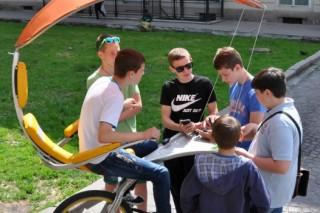 Во Львове появился уникальный велогенератор энергии