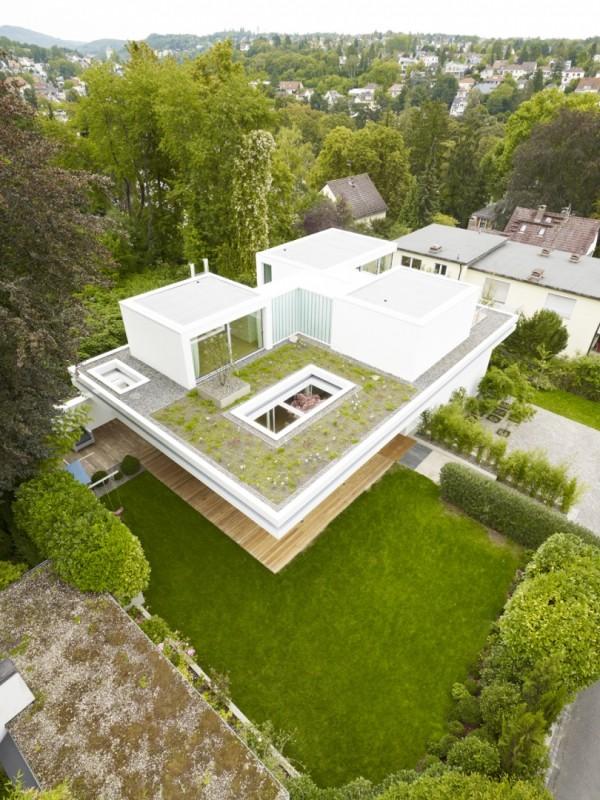 Три комнаты, три дерева и лужайка на крыше