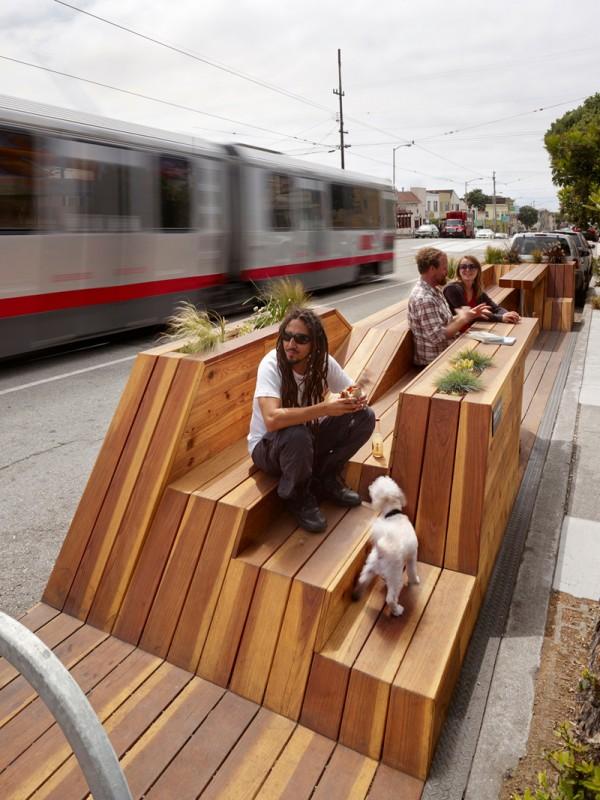 Сан-Франциско заменяет паркинги парклетами