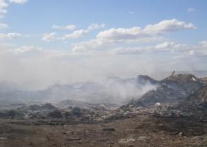 В Волгограде ищут решение по тушению глубинного возгорания на свалке